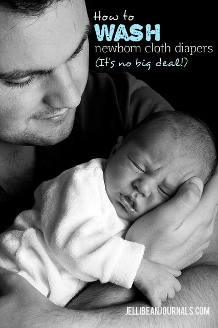 How to Wash Newborn Cloth Diapers   Jellibeanjournals.com