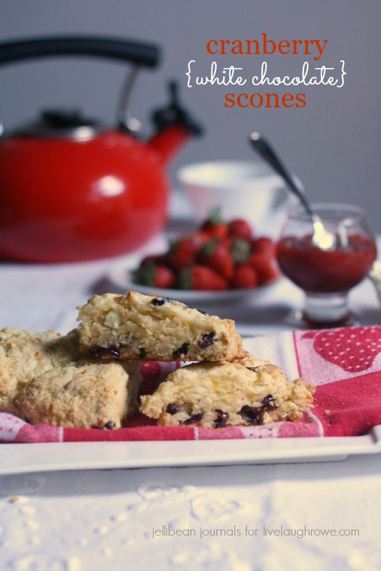 cranberry white chocolate scones | jellibeanjournals.com