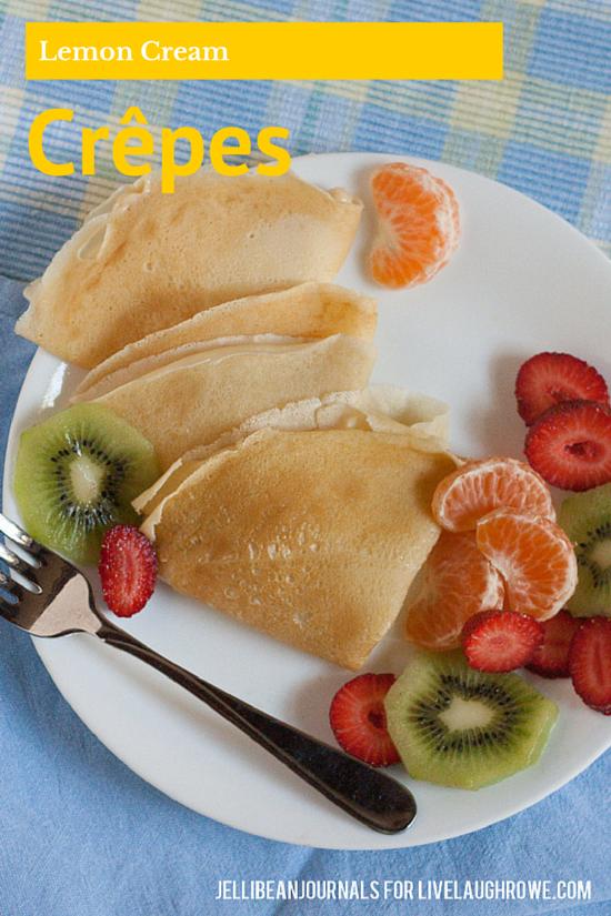 lemon cream crepes | jellibeanjournals.com