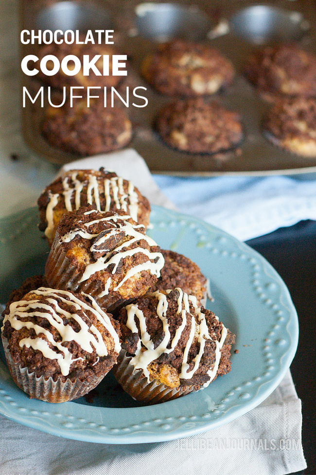 Chocolate Cookie Muffins | Jellibeanjournals.com