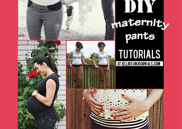 Top DIY Maternity Pants Tutorials | Jellibeanjournals.com