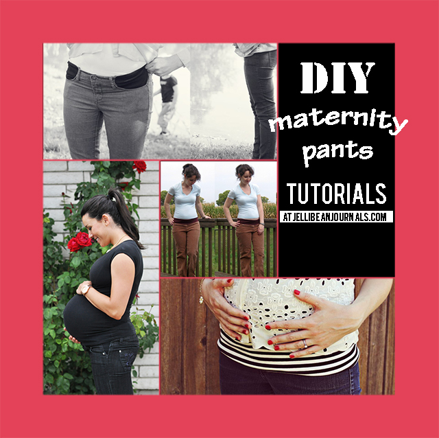 Top DIY Maternity Pants Tutorials  | Jellibeanjournals.com
