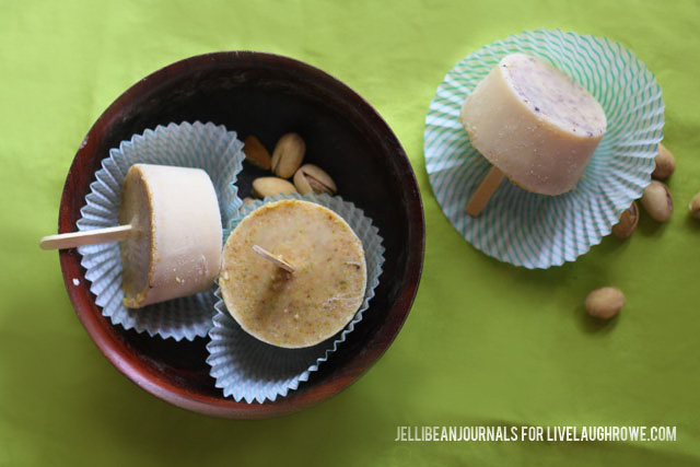 Pistachio-Peanut Popsicles