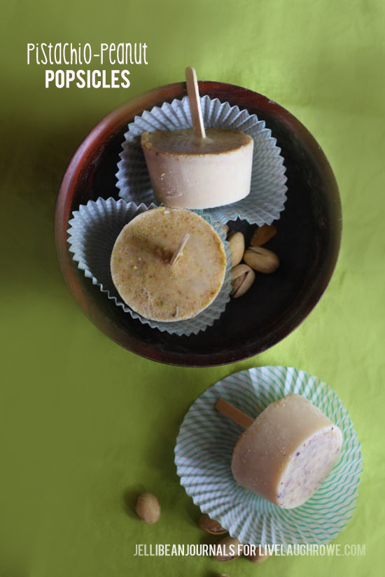 Pistachio Peanut Popsicles- jellibean journals