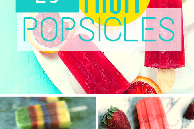 Summertime FRUIT Popsicle recipes! Get ready to make your freezer into a popsicle factory this summer. | Jellibeanjournals.com