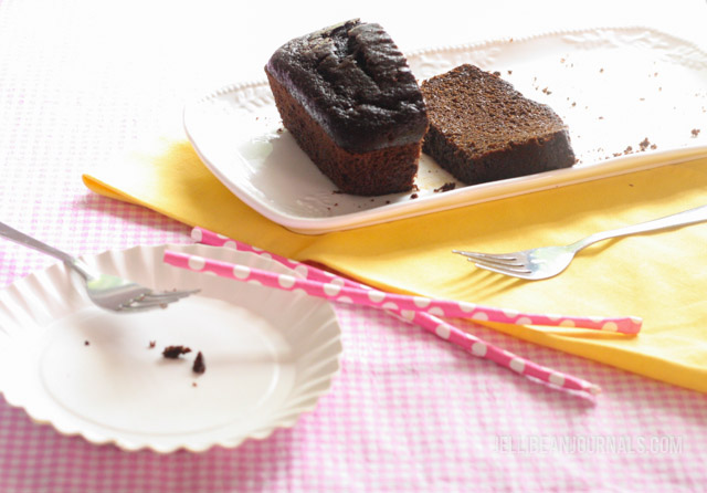 moist chocolate loaf cake-3