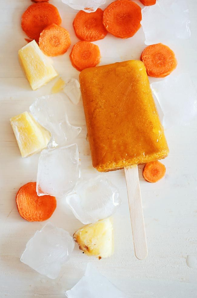 pineapple carrot popsicles