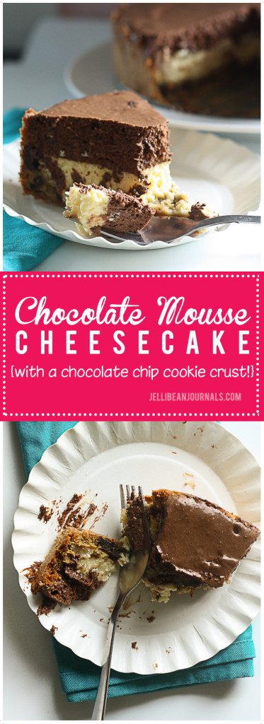 Chocolate mousse cookie cheesecake. YUM!