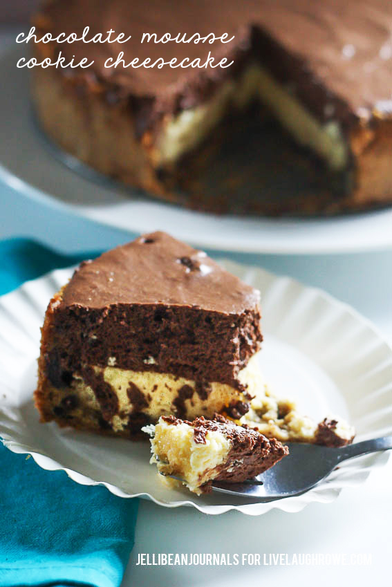 chocolate mousse cookie cheesecake- jellibeanjournals for livelaughrowe