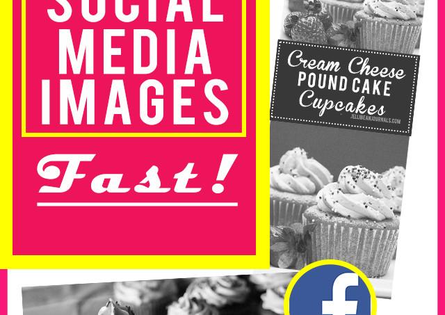 Make stunner social media images FAST! Insider #blog tips from jellibeanjournals.com