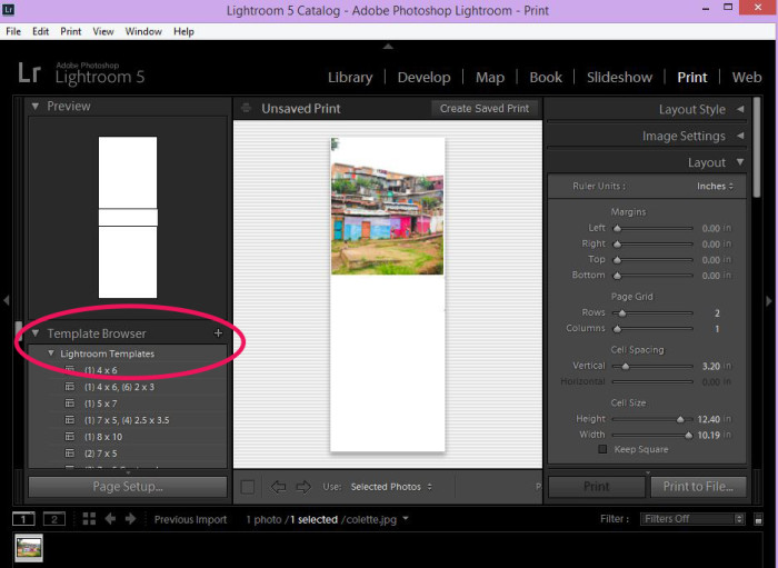 how to install lightroom print templates 2