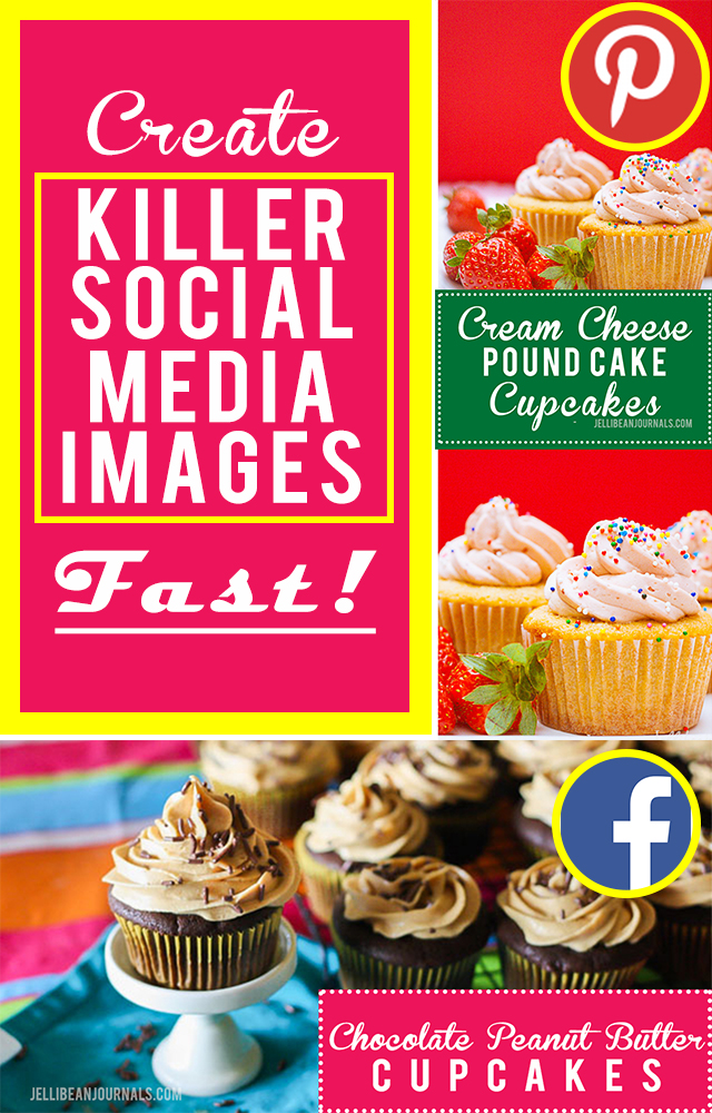 Pro-blogger tip to making eye-catching social media images fast! | Jellibeanjournals.com