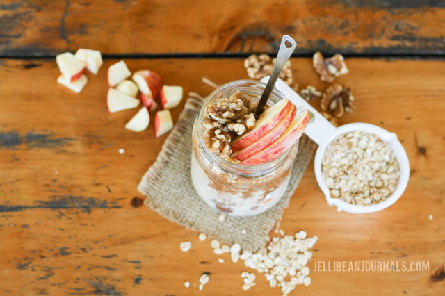 caramel apple overnight oats recipe