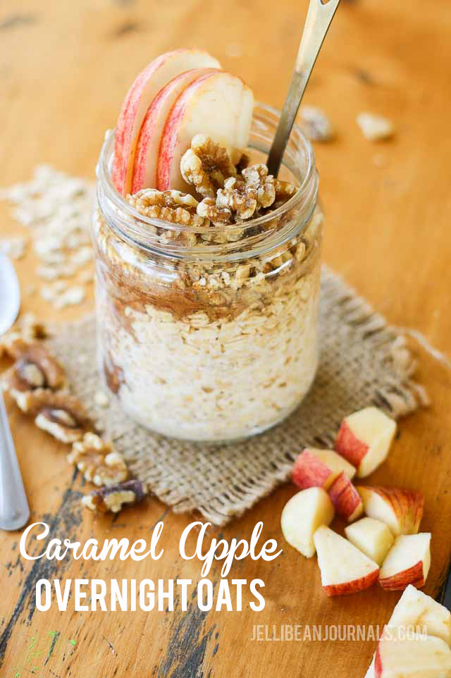 caramel apple overnight oats- jellibeanjournals.com