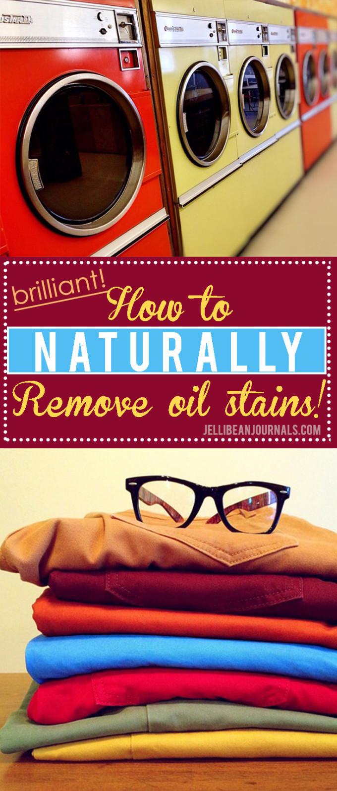Simple 1-ingredient natural solution to remove pesky oil stains from clothes. Gotta try this!! at jellibeanjournals.com