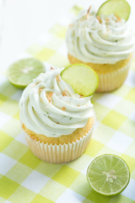 Key-Lime-Coconut-Cupcakes by spoonful of sugar