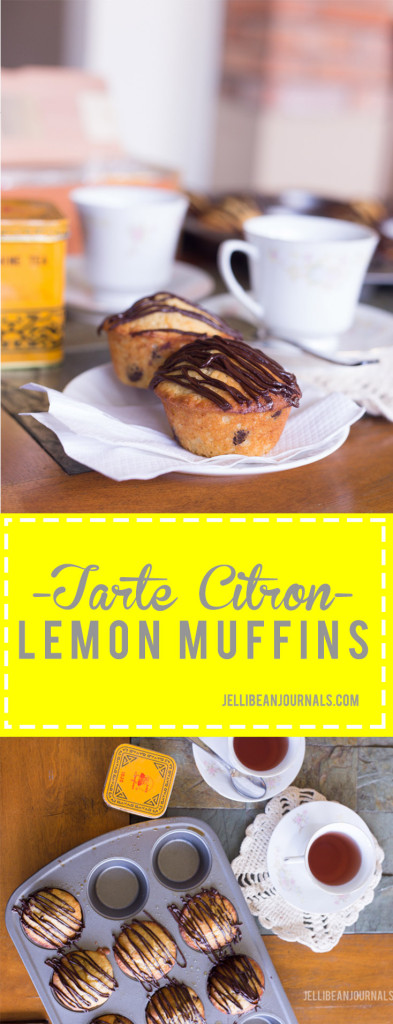 Tarte Citron Lemon Muffins based on a Lindt Chocolate bar! | Jellibeanjournals.com