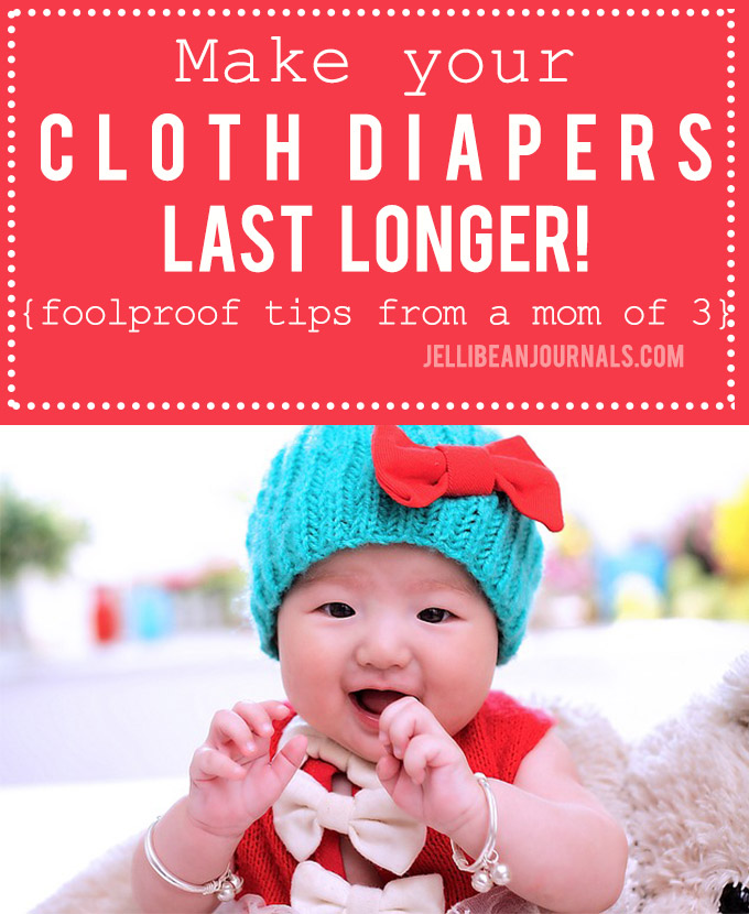 Extend the life of cloth diapers with these tips from Jellibeanjournals.com