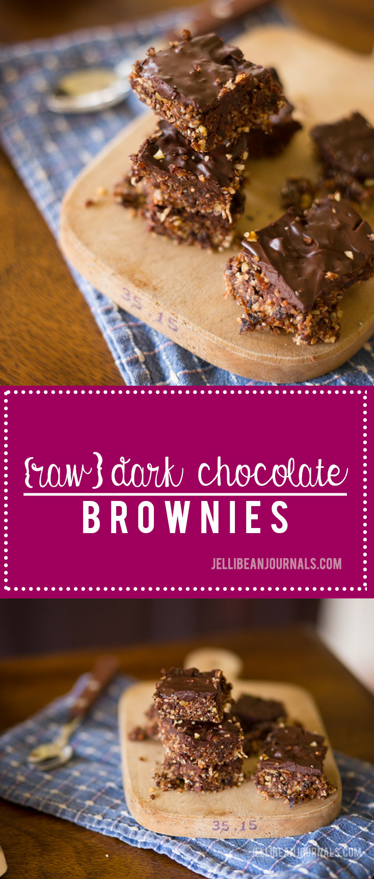 Raw dark chocolate brownies with unbelievably addictive ganache | jellibeanjournals.com