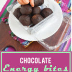 Perfect for lunchboxes & chocolate cravings, chocolate energy bites make moms happy.   Jellibeanjournals.com!   Jellibeanjournals.com
