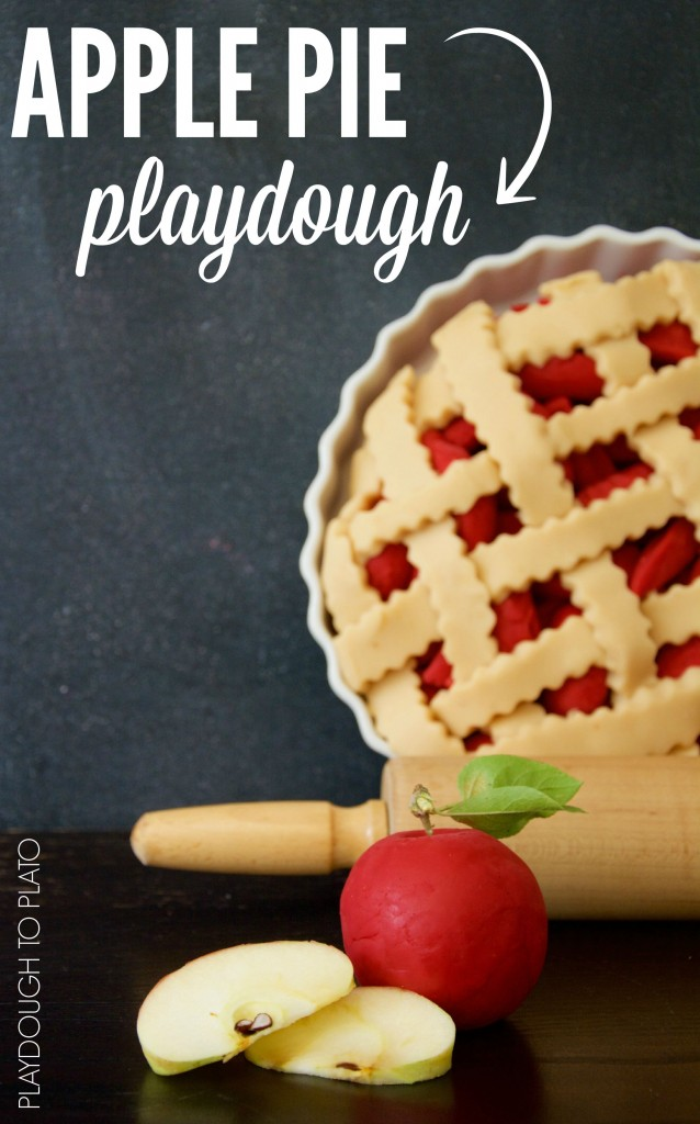 Apple Pie Playdough from Playdough to Plato and more playdough recipes | Jellibeanjournals.com