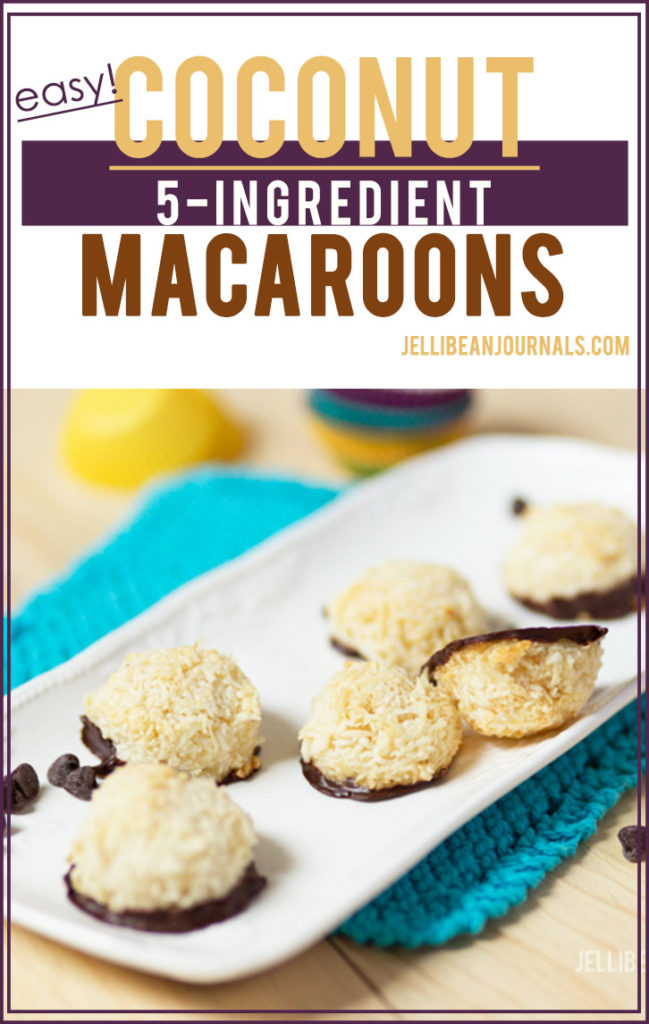 Chewy coconut macaroons bathed in dark chocolate | Jellibeanjournals.com