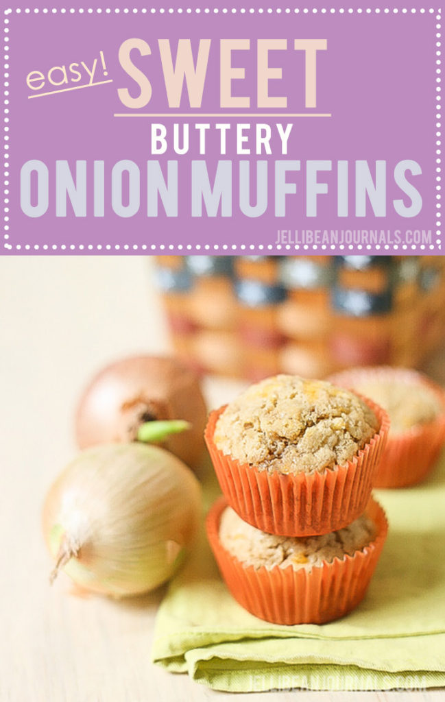 The ultimate savory muffin: sweet onion muffins with Cheddar! | Jellibeanjournals.com