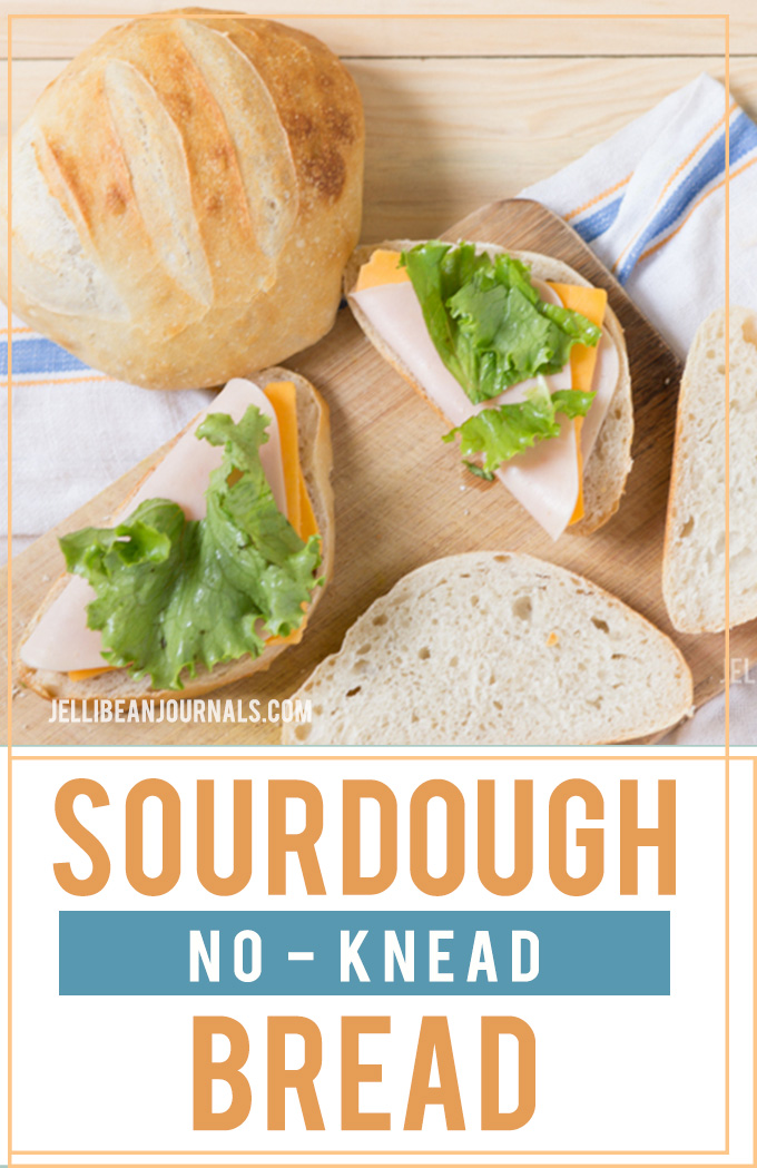 Easy no-knead sourdough bread | Jellibeanjournals.com