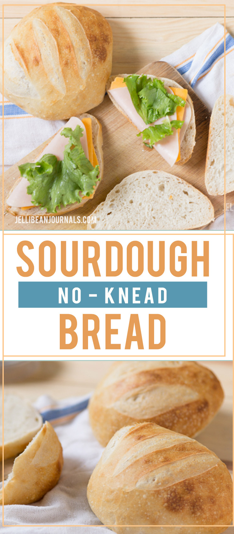 Hands-off simple no knead sourdough bread | Jellibeanjournals.com