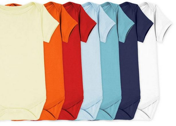 primary color baby onesies for fourth baby registry
