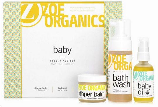 zoe organics baby bath set