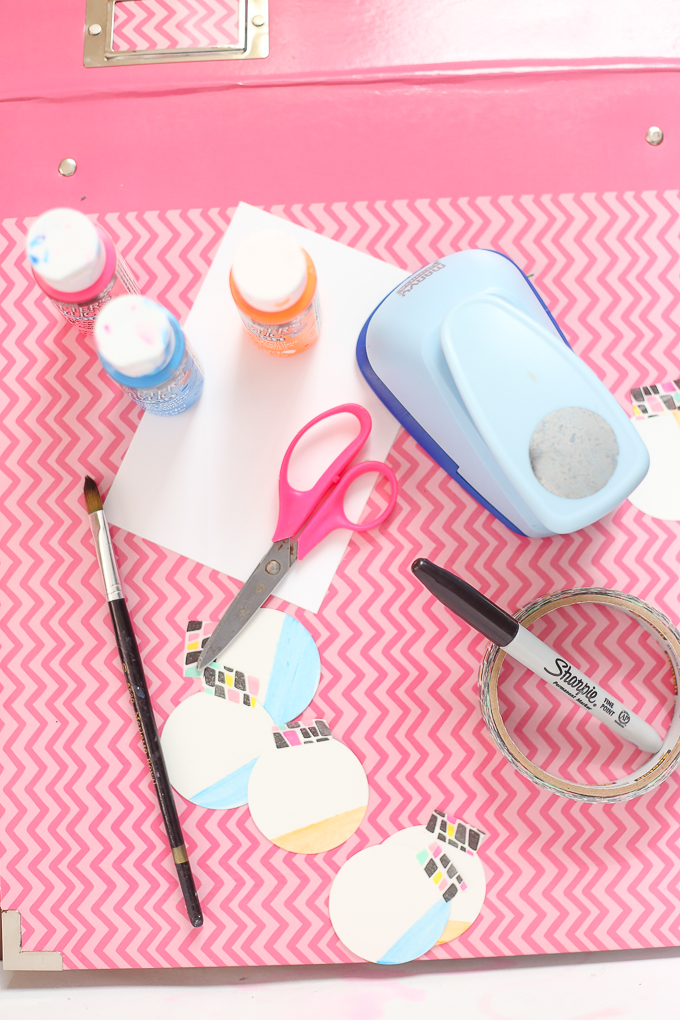 DIY Baby Countdown Calendar Supplies